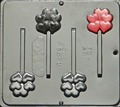 Heart Cluster Lollipop Chocolate Candy Mold Valentine 3061 NEW