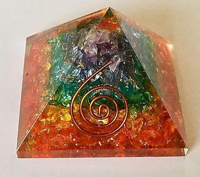 Orgonite Pyramid Chakra Gemchips Orgone Healing Reiki Energy EMF SPECIAL OFFER