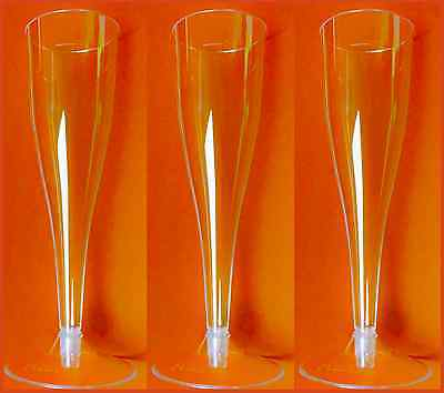 Einweg Sektgläser 100 St. Plastik Sektglas Sektflöten 0,1L  2-teilig