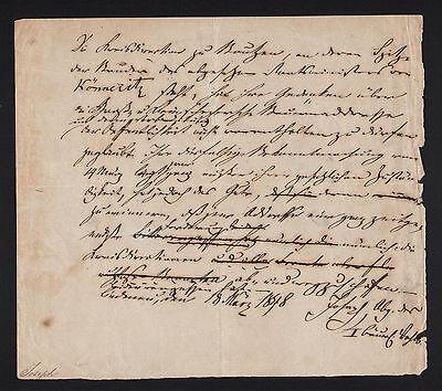 1848 - Autograph von Hermann Joseph Abgeordneter Nationalversammlung Original!