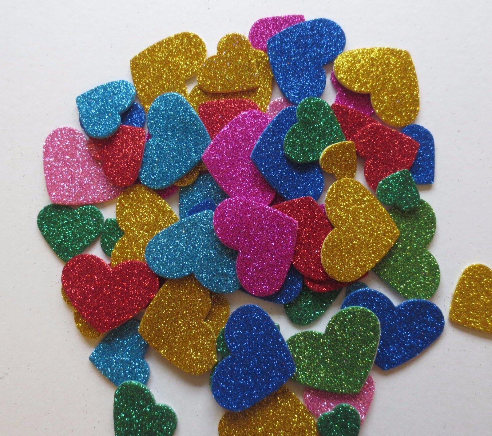 54 Asst Self Adhesive 3mm /& 5mm Deep Glitter Foam Star Shapes 45//37//28mm Dia