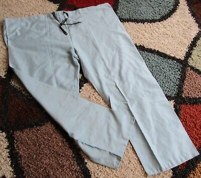 Best Medical Unisex Reversible Drawstring Scrub Pant 100% Cotton Misty Green 3X