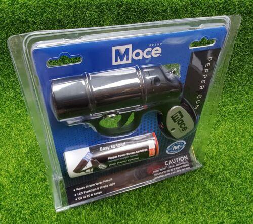 MACE Pepper GUN 20ft. Defense SPRAY Strobe LED Tactical Light - 80405