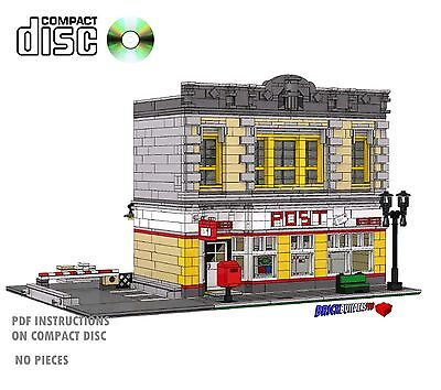 Cd Modular Post Office Lego Custom Instructions Cafe City 10182  Corner  Mail  7