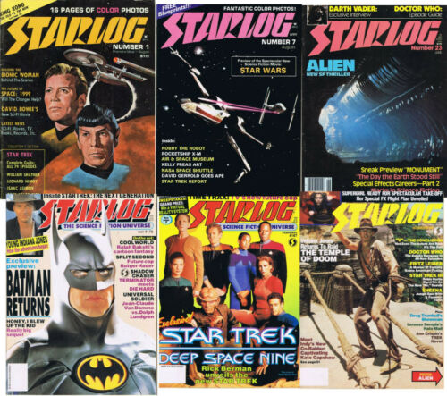 Original 1970s Starlog Magazine Collection #1-#249 —>  Your Choice of Issues