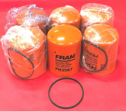 Case of 6 Hydraulic Filter Fram PH3567 For CATERPILLAR,FORD,NEW HOLLAND,CASE