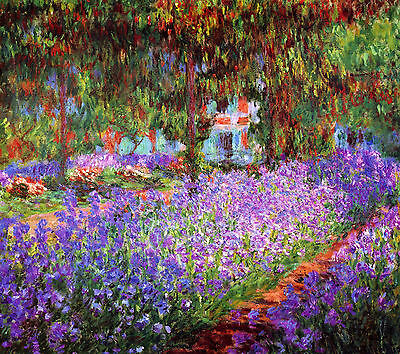 The Artists Garden at Giverny  by Claude Monet  Giclee Canvas Print Repro Claude Monet Artists Garden