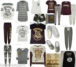 primark ladies harry potter hogwarts marauders map pyjama separates pyjamas 6 20 ebay. Black Bedroom Furniture Sets. Home Design Ideas