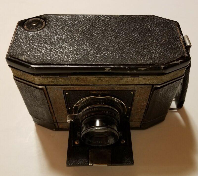 Vintage Graflex 120 Film 10/35mm Camera B.L. Tessar Lens