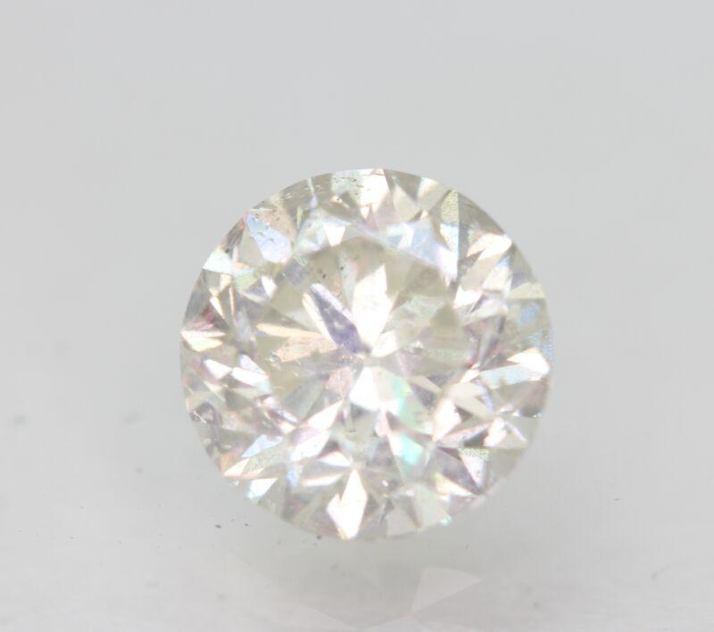 Certified 1.51 Carat H SI1 Round Brilliant Enhanced Natural Loose Diamond 7mm