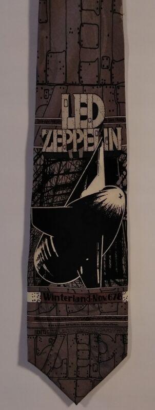 VTG Led Zeppelin Fillmore Poster Bill Graham No. 199 Handmade 100% Silk Necktie