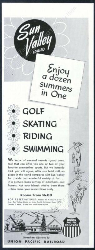 1951 Sun Valley ski area A Dozen Summers In One vintage print ad