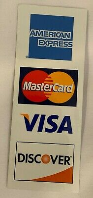 1 We Accept Credit Card Sign Sticker Business Decal Store Retail Window Visa