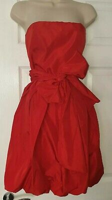 ZARA RED PUFFBALL DRESS SMALL 8-10 puff asos special occasion ball gown vintage  for sale  Shipping to Nigeria