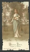 Estampa Antigua Santa Inés Andachtsbild Santino Holy Card Santini -  - ebay.es