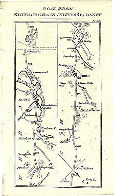 Antique map, Brechine to Inverness (4)
