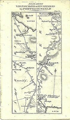 Antique map, Edinburgh to Thurso & Johny Grots (2)
