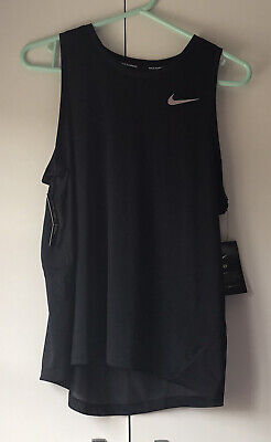 Black Nike Miler Dri-fit Tank Top Ladies Vest Running/Fitness/Gym Size 14 Large