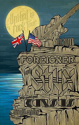 "STYX / FOREIGNER / KANSAS ""UNITED IN ROCK TOUR"" 2010 MINNEAPOLIS CONCERT POSTER"