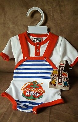Vintage Tootsie Roll Anchors Away Baby One Piece 0-6 Mos NOS Unisex - Tootsie Roll Baby