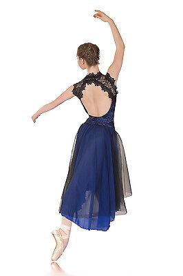 Regal Lyrical Dress Royal Blue & Black. Dance Costumes Lots Groups