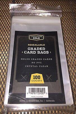 100 Cardboard Sleeves (100 Ct Cardboard Gold GRADED CARD BAGS SLEEVES PSA BECKETT Pack NEW)