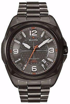 Bulova Men's 98B225 Precisionist Black Dial Stainless Steel Grey Watch