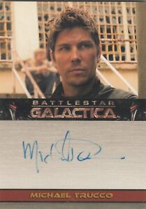 Battlestar Galactica Season 2 Autograph Card Michael Trucco as Sam Anders - France - You are bidding on a Battlestar Galactica Season 2 Autograph Card Kate Michael Trucco as Sam Anders. Card is near mint. Payment by Paypal only. Shipping / Handling is either 4.00 priority mail or 12 by priority registered mail (insured) wordwide. - France