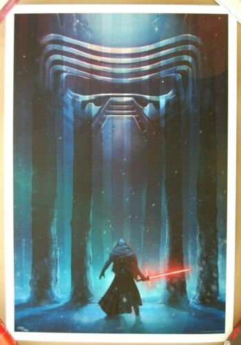 Andy Fairhurst STUDENT OF DARKNESS /300 Screen Print Poster Star Wars Kylo Ren