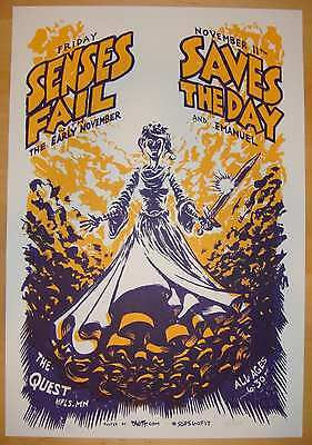 2005 Senses Fail & Saves the Day - Silkscreen Concert Poster by DWITT