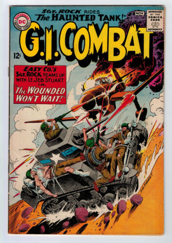 GI COMBAT #108 5.0 1ST SGT ROCK X-OVER KUBERT ART 1964 OW/W PAGES