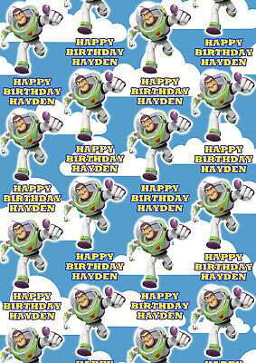 BUZZ LIGHTYEAR Personalised Gift Wrap - Disney Toy Story Wrapping Paper - Woody - Disney Wrapping Paper