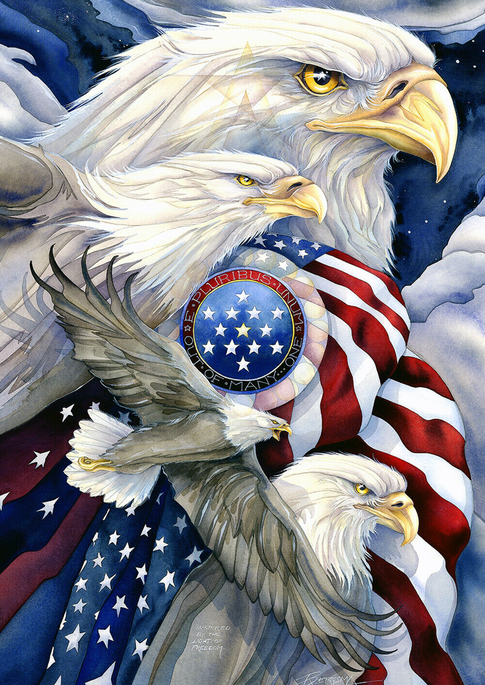 Toland Stand In Unity 12.5 x 18 America Patriotic Stars Stir