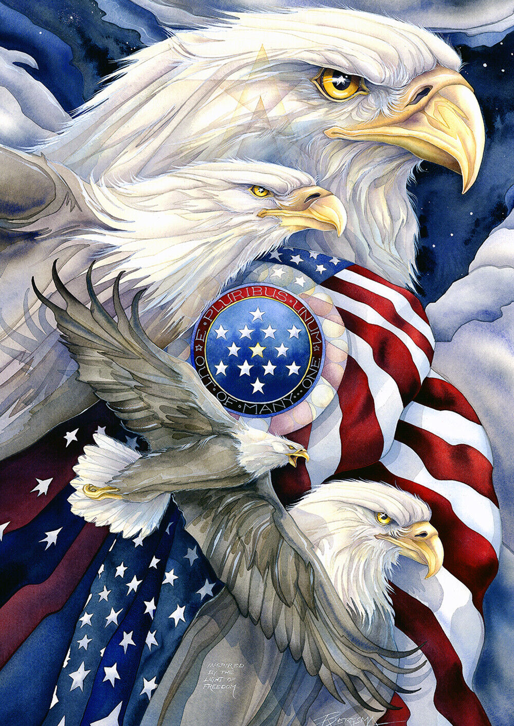 Toland Stand In Unity 28 x 40 America Stars Stripes Unity Ho