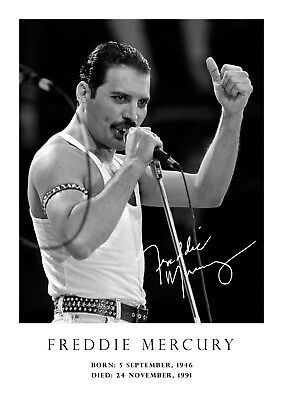 tribute copy A3-420mm x 297mm NEW signed Freddie Mercury poster # 31