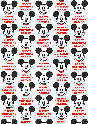 Mickey Mouse Gift Wrapping Paper (Mickey Mouse Personalised Gift Wrap - Disney's Mickey Mouse Wrapping Paper -)