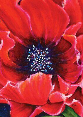 Toland Painted Poppy Garden Flag