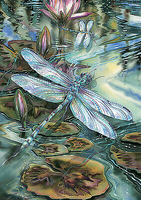- Toland Dragonfly And Pond 12.5 x 18 Lily Pad Flower Water Garden Flag
