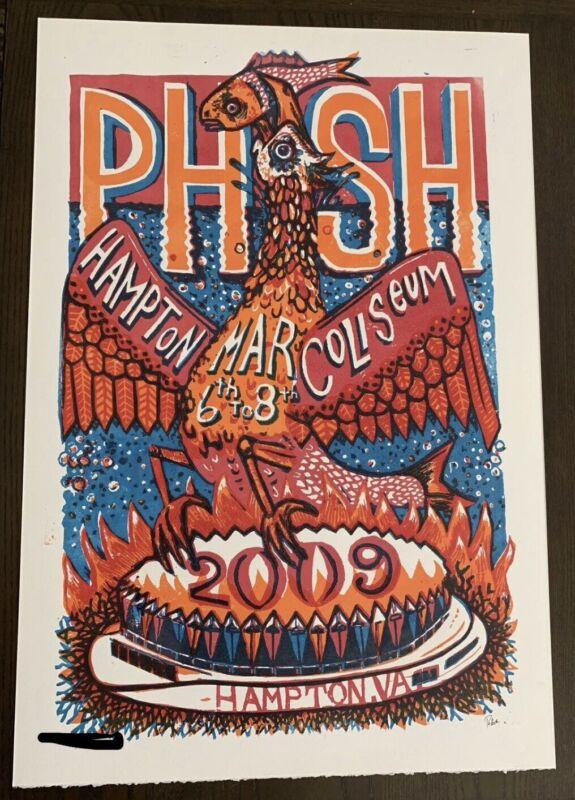 Phish 2009 Hampton Coliseum Jim Pollock Poster Print