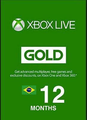 XBOX Live Gold 12 Monate / month - ! Brasilien / Brasil Region ! (Xbox Live 12 Monat)