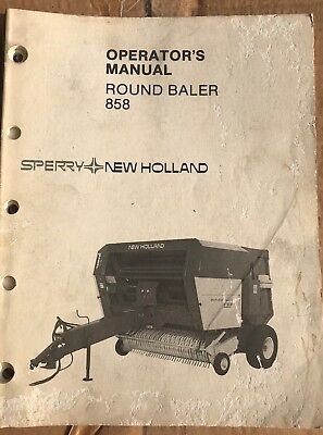 New Holland 858 Round Baler Operators Manual.