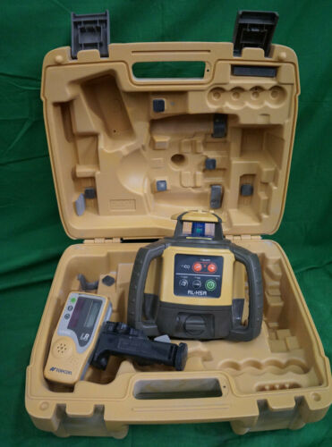 Topcon RL-H5B Construction Rotary Laser Level With LS-80L Receiver & Case