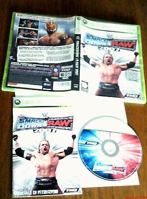 Smackdown vs Raw 2007 Xbox 360 Pal-Ita  for sale  Shipping to Nigeria