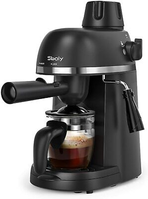 Sboly Steam Espresso Machine with Milk Frother, 1-4 Cup Expresso Coffee Maker