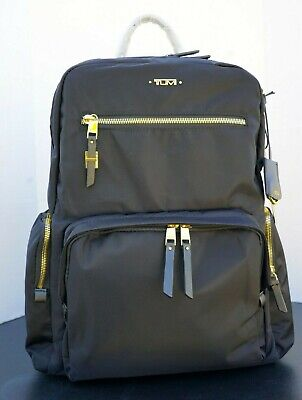 Tumi Voyageur Carson Carry-On Backpack Blue & Gold NWT FREE SHIPPING
