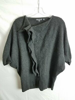 Vince Gray 100% Cashmere Dolman Sleeve Sweater Size M