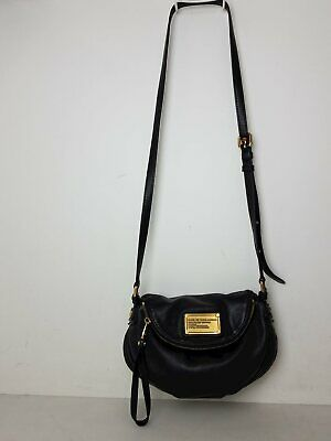Marc Jacobs Women's Black Leather Crossbody Purse -SC