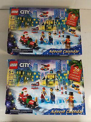 Lego City 60303 Advent Calendar Christmas Set Lot x2 - Unopened w/ Box Damage
