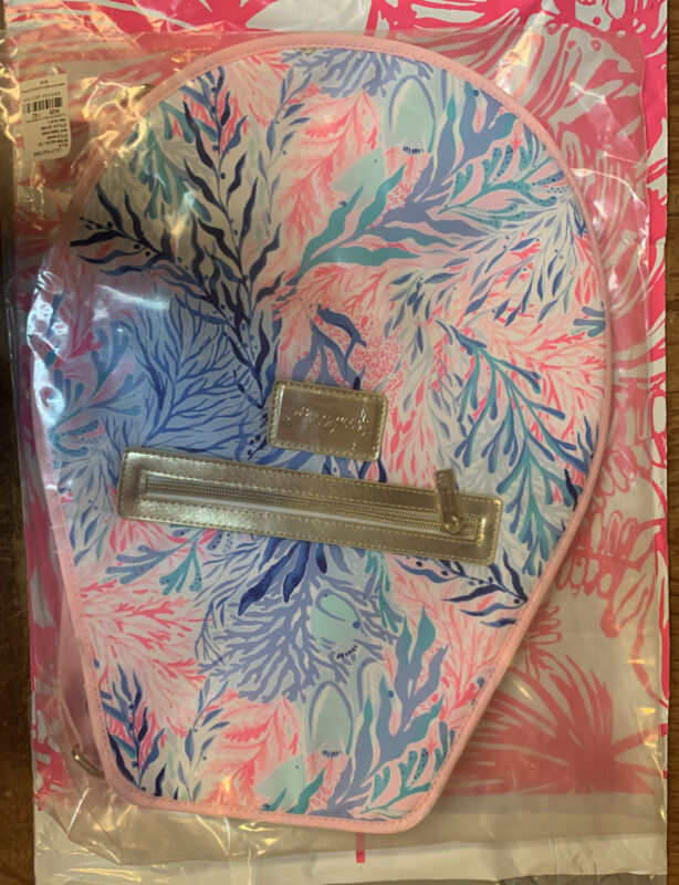 NEW Lilly Pulitzer Tennis Racquet Racket Cover Kaleidoscope Coral  Pink Blue