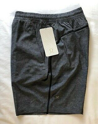 """New LULULEMON Pace Breaker Shorts Lined 9"""" Size XL Heathered Textured Grey NWT"""